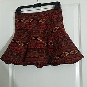 Mini African Print BCBG skirt